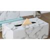 侑家良品 创意纸巾盒大理石纹餐巾纸抽盒 客厅纸巾收纳盒简约北欧风